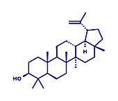 Lupeol molecule, illustration