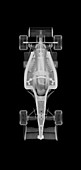Toy racing car, X-ray