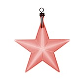 Red star bauble, X-ray