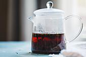 Steeping earl grey tea in pitcher