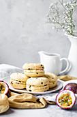 Sandwich-Cookies mit Passionsfruchtcreme