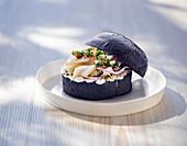 Black fish burger