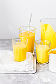 Made with Mango, Yogurt and Cardamom, this 3 ingredients smoothie is sweet, creamy and delicious.