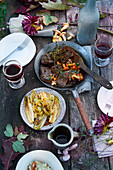 Grilled venison steaks