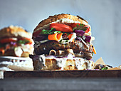 Vegetarischer Falafel-Burger