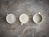 Drei verschiedene Getreidedrinks im Schaumtest (Milchersatz)