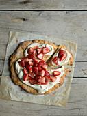 Shortcake mit Erdbeeren und Sahnecreme