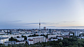 Berlin cityscape and Television Tower at dawn, Germany