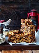 Golden almond cake