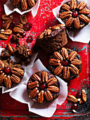 Chocolate Drambuie fruit cakes