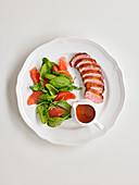 Duck Pink Grapefruit Salad