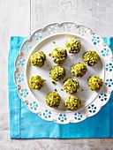 Pistachio truffles