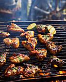 Chili-Chickenwings auf dem Grillrost