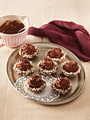 Tartlets with chocolate cream