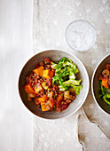 Minced beef and sweet potato stew