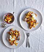 Marmalade and whisky pain perdu with apples