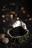 Lebkuchen-Cupcake, angebrochen