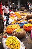 Blumenmarkt in Jaipur (Indien)