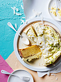 Argentinian lime and coconut 'tres leche' cake