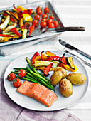 Salmon with roasted vegetable