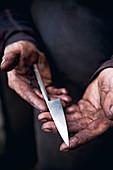 Nachhaltig geschmiedetes Messer