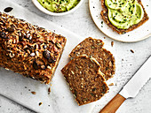 Wholegrain bread and avocado cream