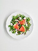 Watermelon Salad with rocket and feta