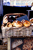 A basket of freshly baked goods