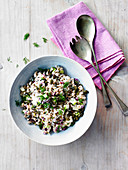 Pearl barley and pumpkin seed salad