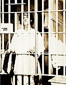 Helena Hill Weed, US suffragette, in jail, 1917