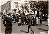 US police arresting suffragettes, 1918