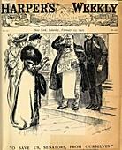 Anti-suffragist illustration, USA 1907