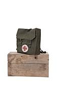 British military first aid bag, 1940s