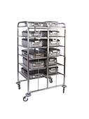 Hospital instrument case rack, 1990s