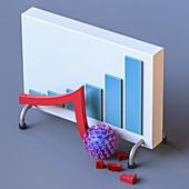 Coronavirus economic impact, conceptual illustration
