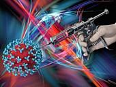 Fighting the coronavirus, illustration