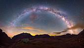 Milky Way over Picos de Europa mountains