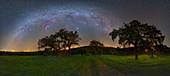 Milky Way over fields