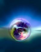 Universe in space, conceptual illustration