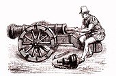 16th century German gun, illustration