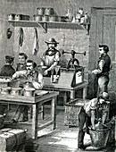 Guncotton manufacture, illustration