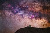 Milky Way over Roque de los Muchachos Observatory