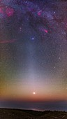 Venus and zodiacal light