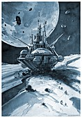 Interplanetary station, illustration