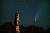 Comet Neowise over Arches National Park, Utah, USA