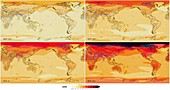21st century temperature change models