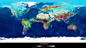 Global carbon monoxide levels