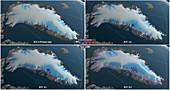 Greenland glacier ice melt models