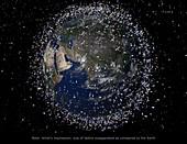 Space debris, illustration