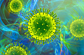 Virus particles, illustration